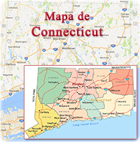 Mapa Connecticut