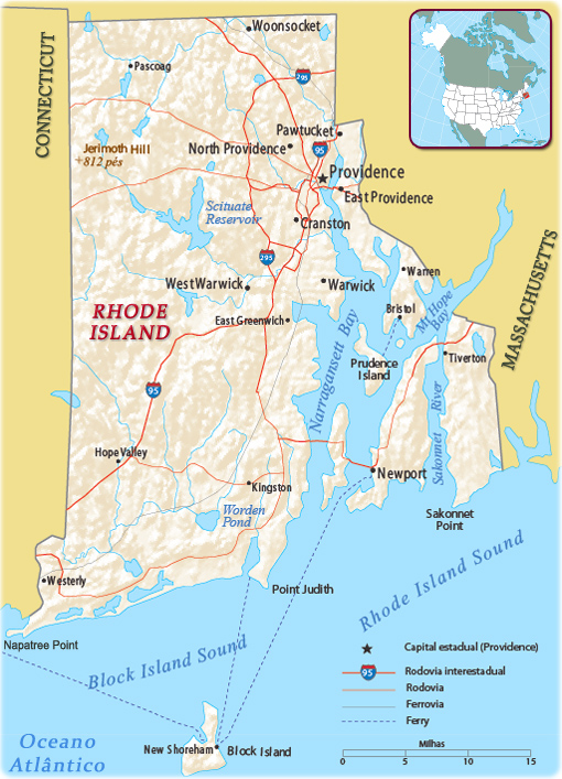 Mapa Politico De Rhode Island